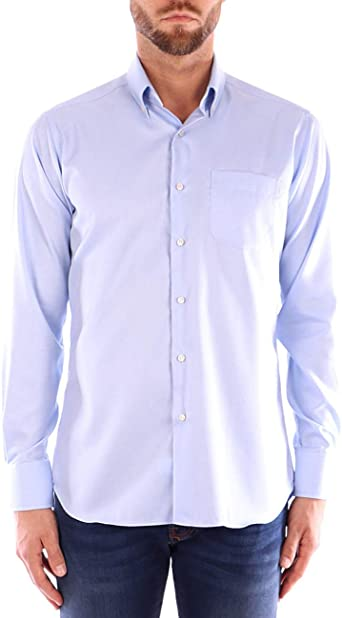 Ingram Camisa Azul Camisa Oxford: Amazon.es: Ropa y accesorios