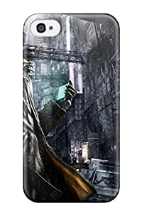 Best 8165321K18883675 Excellent Iphone 4/4s Case Tpu Cover Back Skin Protector Watch Dogs Game