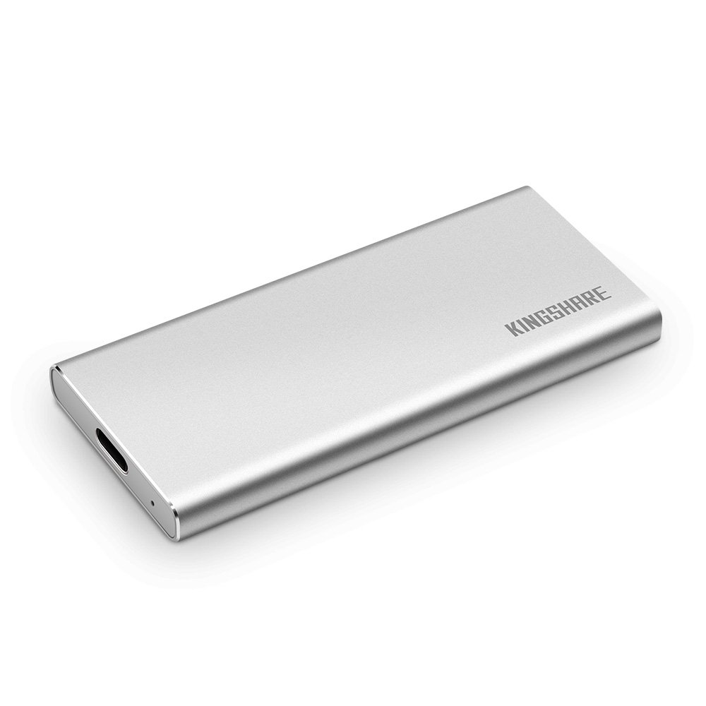 KINGSHARE S8 SSD 480GB USB3.0 Type C External Solid State Drive Portable SSD with UASP Support-Silver (480GB)