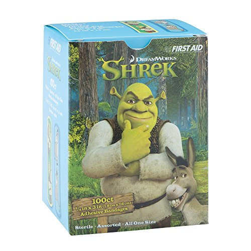 Shrek & Donkey Bandages - First Aid Kid Supplies - 100 Per Pack