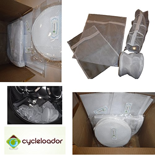 Delicates, Bra, Hosiery & Sweater Mesh Laundry Bag (Set of 4 pcs) by Cycleloador