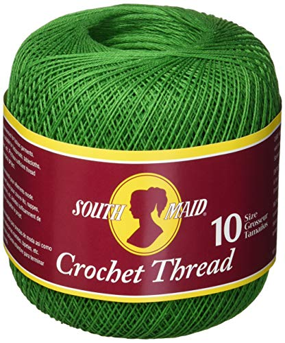 Coats Crochet South Maid Crochet, Cotton Thread Size 10, Myrtle Green