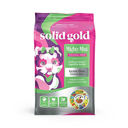 Solid Gold - Mighty Mini with Natural Turkey and Hearty Vegetable - Sensitive Stomach Probiotic Support - Grain-Free - Holistic Dry Dog Food for Toy and Small Breed of All Life Stages