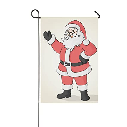 haiqingcjhov yard decorations garden flag outdoor home decor colored drawing santa claus house flags
