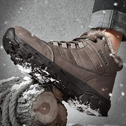 ハイキングブーツ 雪靴 ワークシューズ メンズ 歩きやすい 裏起毛 編み上げブーツ 秋冬 スノーブーツ 滑り止め オシャレ 冬靴 トレッキング デザートブーツ ショートブーツ 綿靴 防水 マーティンブーツ 裏ボア