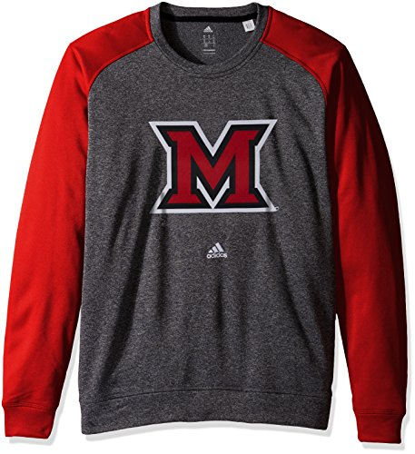 NCAA Miami of Ohio Redhawks Adult Men Preferred Patch Climawarm Ultimate Crew,Large,black ()