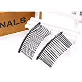 Pomeat Black Iron Vintage Fashion Hair Comb Pin for