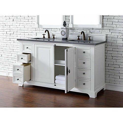 Double Dresser Cottage - 60 in. Double Vanity Cabinet in Cottage White