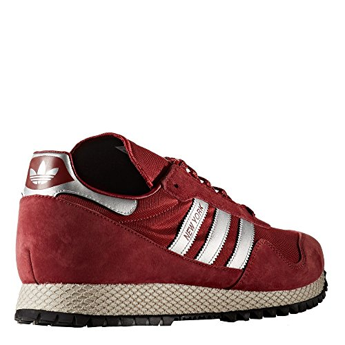 Adidas Men New York Trainers (burgundy / metallic silver / mystery red)...