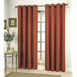 Stylemaster Grammercy Grommet Drapery 56-Inch by 63-Inch Window Panel, Pumpkin