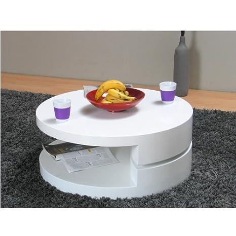 Couchtisch Rotondi Wohnzimmertisch Beistelltisch Tisch Weiß