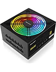 $76 » Computer Power Supplies 750W, RGB Power Supply Fully Modular 80+ Gold PSU, Addressable RGB Light Power Supply for Gaming PC