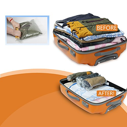 10 PCS Roll-up Travel Space Saver Saving Vacuum Seal Storage Bags Small to Large (10, S to L)