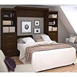 Bestar Furniture 26884-69 Pur 115'' Queen Wall Bed Kit Including Two Doors and Six Drawers with Simple Pulls in