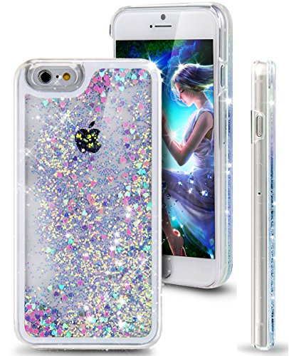 iphone-7-plus-caseikasus-iphone-7-plus-liquid-glitter-caseblue-pink-crystal-clear-hard-pc-quicksand-