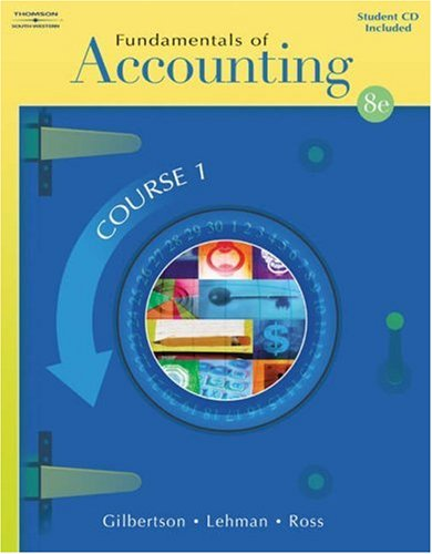 Fundamentals of Accounting: Course 1 (with Student CD-ROM)