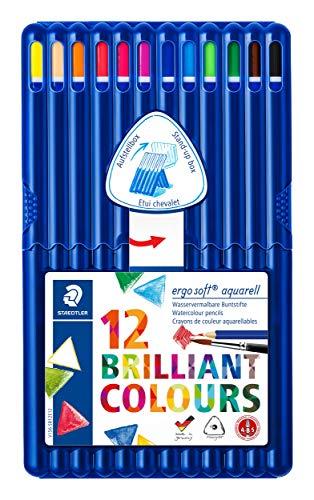 Staedtler Ergosoft Watercolor Pencils, Set of 12 Colors in S