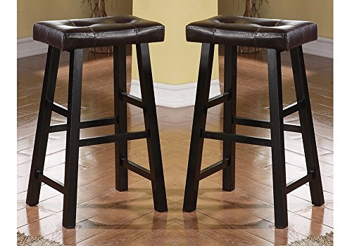 Bar Stool Swivel Country (Bobkona Drake Set of 2, Country Series Bar Stool - 29