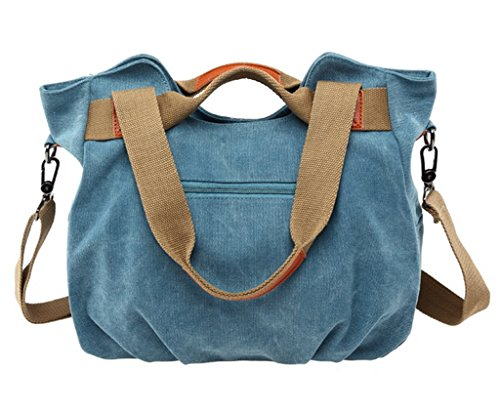 Shopper Shoulder Handbag Hobo Crossbody Women's Vintage Size Tote 01 Bag handle Bag Top Canvas Green Large qOvnSfOC