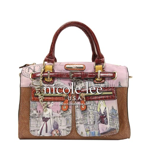nicole-lee-claire-blocked-euro-print-boston-bag-clock-tower