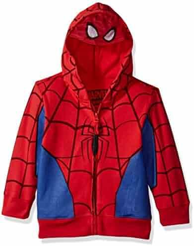 Marvel Boys' Spiderman Mask Costume Hoodie
