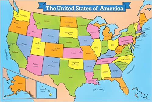 United States Map Puzzles.United States Map Giant Floor Puzzle School Specialty Publishing