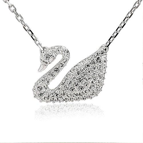 14k Ammolite Ring (Women's Crystal Little Swan Goose Rhinestone)