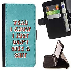 For Sony Xperia M4 Aqua Case , Punk profundo metal gótico motivación- la tarjeta de Crédito Slots PU Funda de cuero Monedero caso cubierta de piel