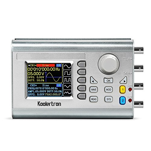 Koolertron 15MHz High Precision DDS Signal Generator Counter,Upgraded Dual-Channel Arbitrary Waveform Function Generator Frequency Meter 266MSa/s (15MHz)