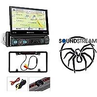 SOUNDSTREAM VRN75HB 7 CD DVD GPS USB BLUETOOTH NAVIGATION 300W AMPLIFIER STEREO W/ Cache Night Vision Car License Plate Rearview Camera (CAM810B)