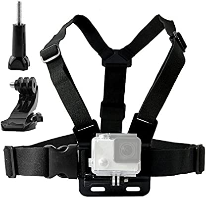 Navitech Action Camera Backpack with Integrated Chest Strap Compatible with The Albrecht Mini DV 100 WP Andoer 2.0 LCD Anmade Action Camera 4k