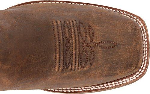 Corral Heren Gouden Borduurwerk Cowboyboot Vierkant Teen Lt Bruin 8.5 D