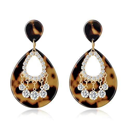 Dangle Earrings for Women Girls Classic Crystal Rhinestone Drop Earrings Pierced Austrian Style Hypoallergenic Earrings Womens Bridal Jewelry