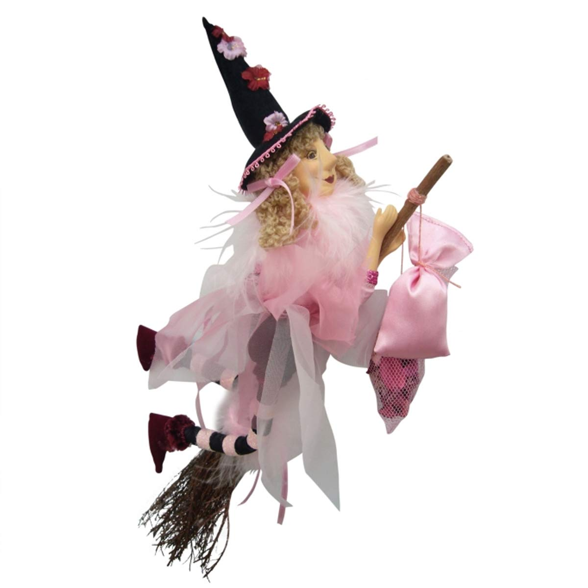 Jazz Witch Flying Pink 32cm Witches of Pendle