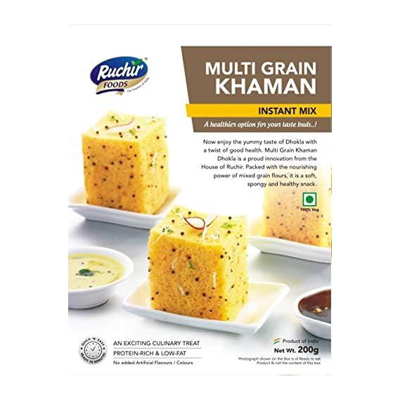Ruchir Foods Instant Mix Multi Grain Khaman - 200 GMS - Instant Mix, Instant Meal