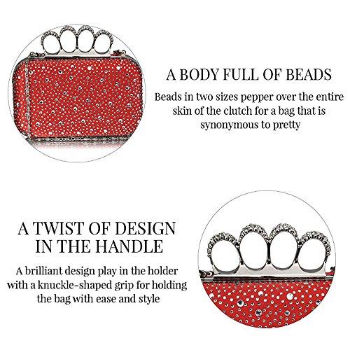 Bolso lentejuelas para diseño mano de de para mujer de fiesta rfYrq