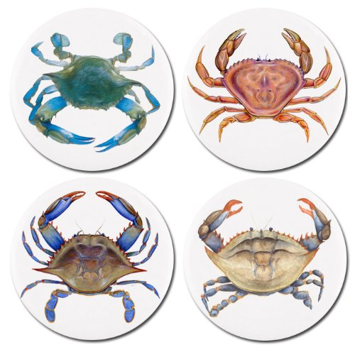 Blue Crab Ceramic Knobs Pulls Kitchen Drawer Cabinet Vanity Closet (Crab Cabinet)