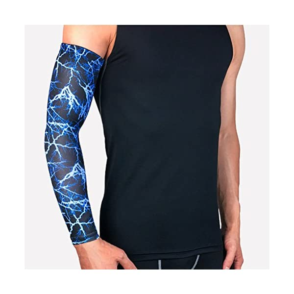 VORCOOL, 1 paio di manicotti sportivi a compressione, taglia M, protezione UV, per uomo o donna, per bici, golf… 3 spesavip
