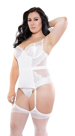 8b3cca7b878 Coquette Women's Plus Size Diva White Bustier