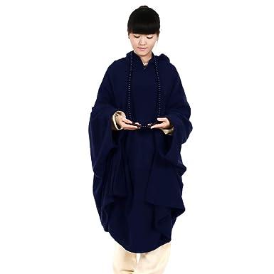 242965951 Katuo - Grande cape à capuche de méditation bouddhiste pour femmes et hommes