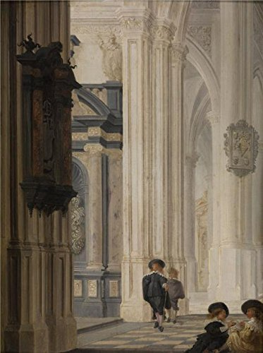 ('Interior Of A Church By Dirck Van Delen,17th Century' Oil Painting, 12x16 Inch / 30x41 Cm ,printed On Perfect Effect Canvas ,this Best Price Art Decorative Canvas Prints Is Perfectly Suitalbe For Laundry Room Decor And Home Gallery Art And Gifts)