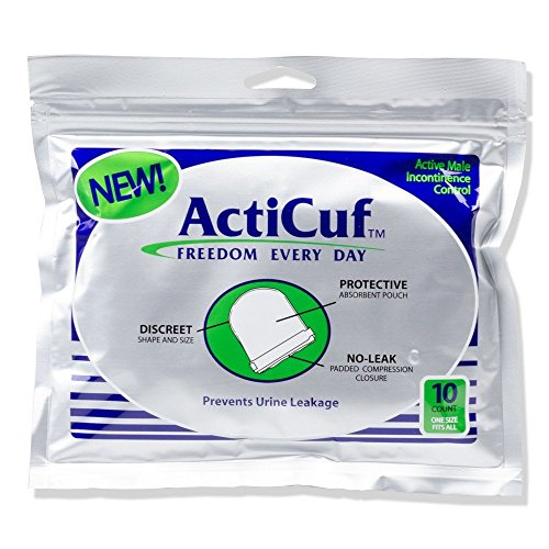 ActiCufTM Compression Pouch for Male Urinary Incontinence; One Pack of 10 (Best Incontinence Products)