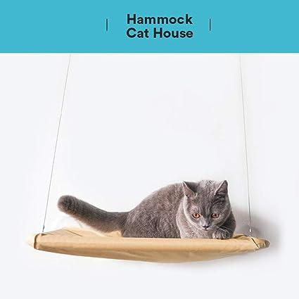 XDYFF Gato Hamaca de Ventana/Percha de Ventana para Baño de Sol, Ventosa Mascota