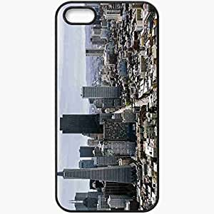 Protective Case Back Cover For iPhone 5 5S Case Dignity Francisco California USA Sky Nebosereb Black