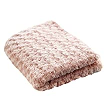 Simple&Opulence Super Soft Microfiber Stereo Rose Pattern Home Furnishing Throw Blanket 50''×60'' (Pink)
