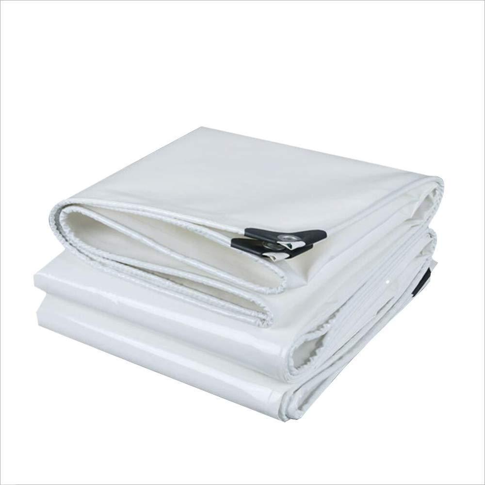 ZHULIAN Plane wasserdichtes Tuch, weiße PVC-Grundblatt-Abdeckungen für Abdeckung im Freien Bauernhof Camping Lager-Segeltuch