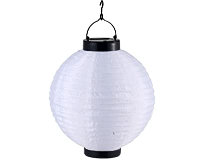 Plafoniere Da Esterno Solari : Globo lampada a sospensione da esterni ad energia solare bianco