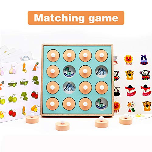 Baby Noah Memory Matching Puzzle Card Board Game | Improve Focus and Concentration for Toddler Kids | Family Fun Toys for Preschool Children Age 3 and Up