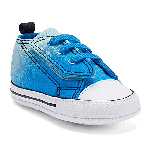 Converse Chuck Taylor First Star Easy Slip Infant Soft Sole Shoe (2 M US Infant, Pool Blue)