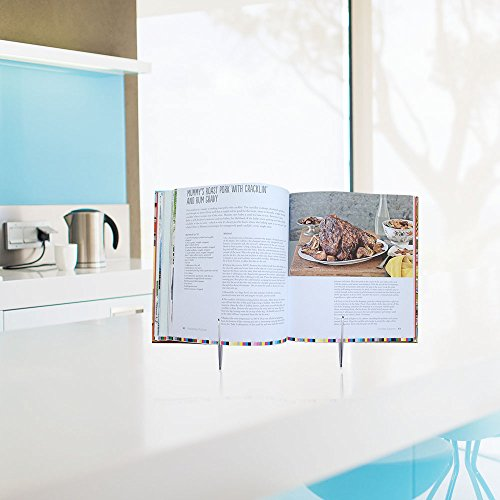 Book Stands,Fold-n-Stow Metal Bookstand,Music Book Easel Display Holder,Adjustable Reading Stand,Small Book Rest for Kitchen Counertops,Bookrest for Hardcover Textbook,Ipad,Document,Cookbook,Recipe by AUS (Image #7)